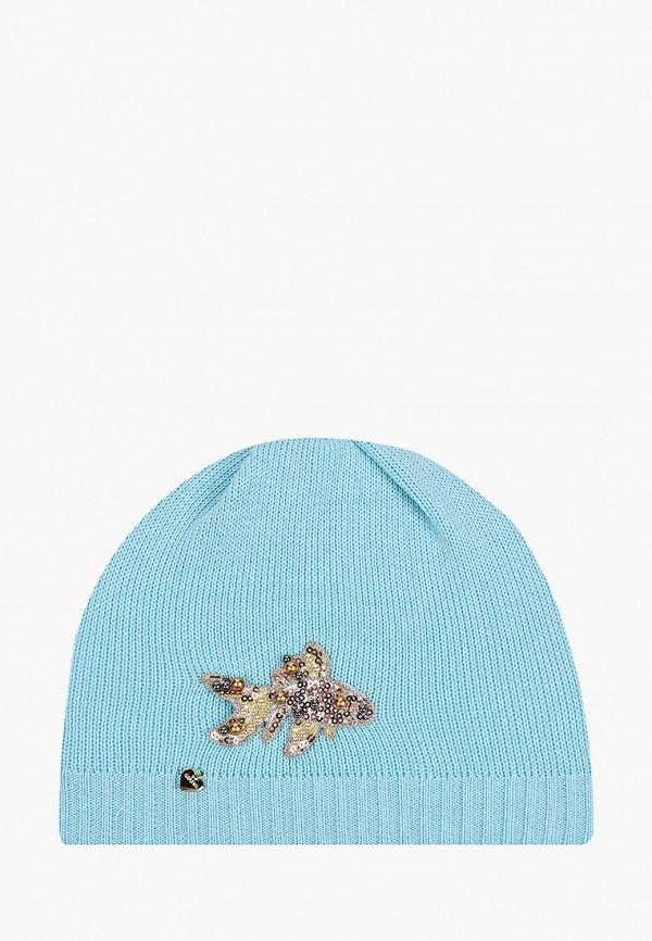 шапка giamo для девочки, голубая