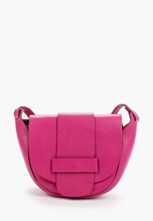 женская сумка giulia monti, розовая