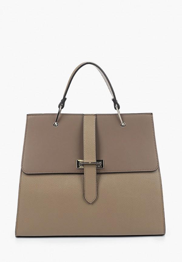 женская сумка с ручками giulia monti, серая