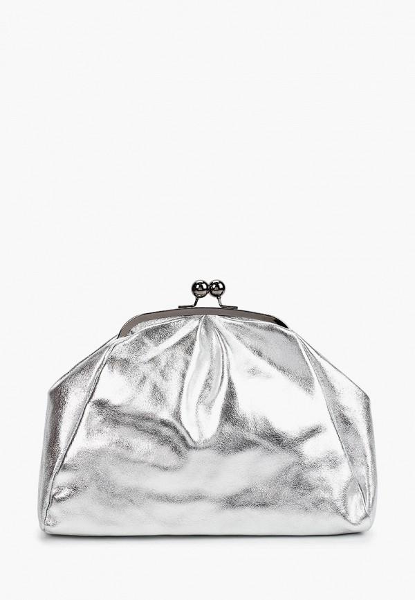 женская сумка giulia monti, серебряная