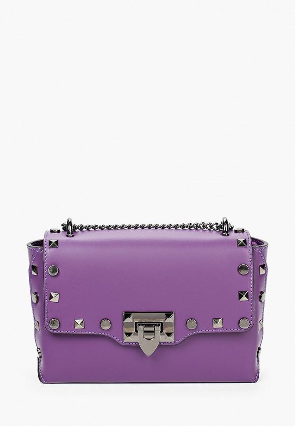 женская сумка giulia monti, фиолетовая