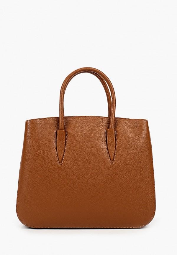 женская сумка giulia monti, коричневая