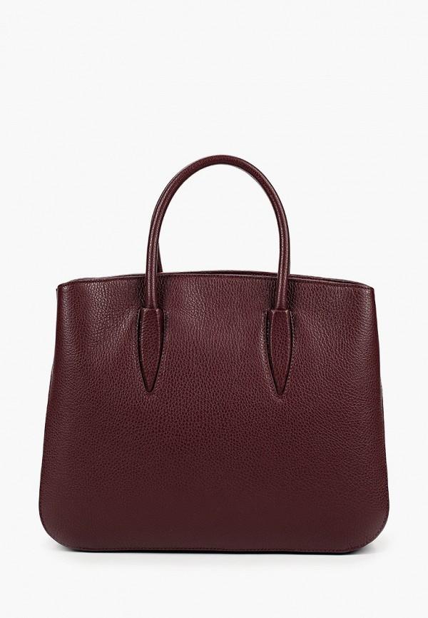 женская сумка giulia monti, бордовая