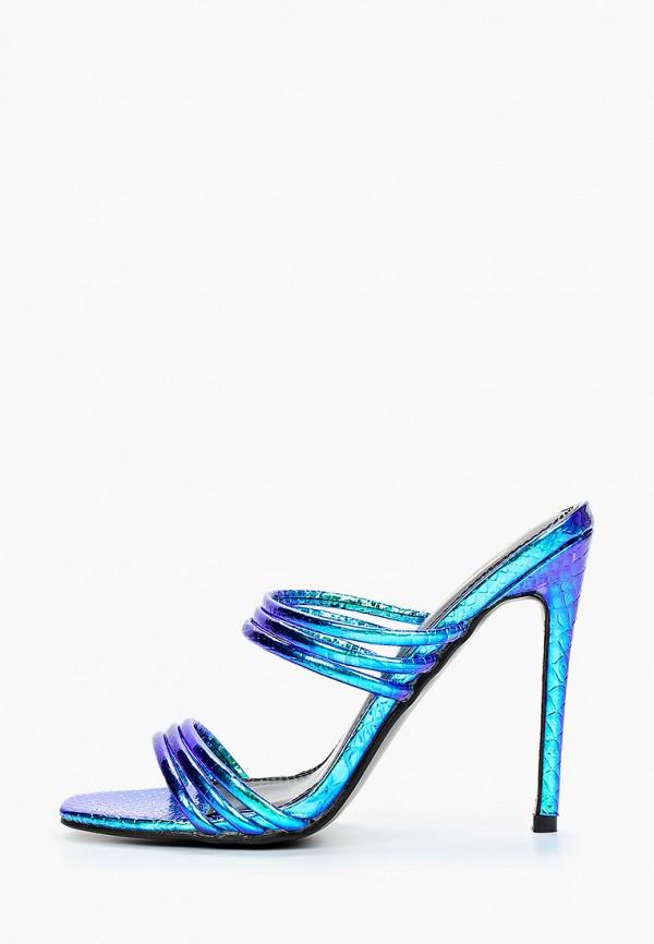 женское сабо givana, синее