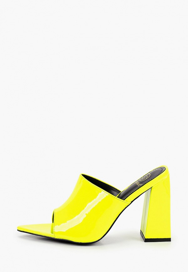женское сабо givana, желтое