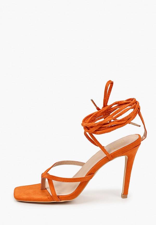 женские босоножки givana, оранжевые