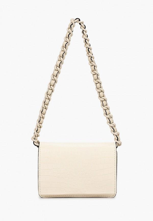 женская сумка с ручками gianni chiarini, бежевая