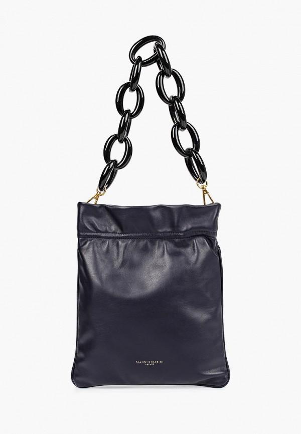 женская сумка gianni chiarini, синяя