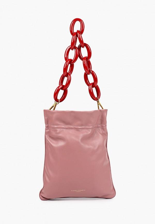 женская сумка gianni chiarini, розовая