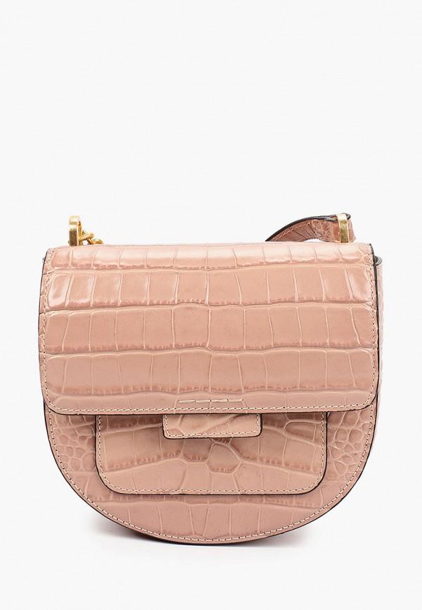 женская сумка через плечо gianni chiarini, бежевая
