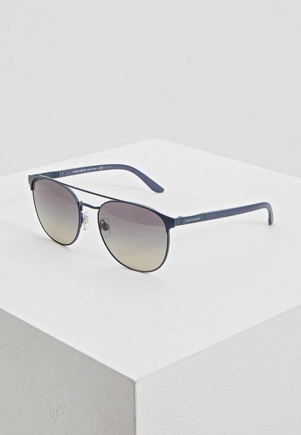 мужские круглые солнцезащитные очки giorgio armani, серые
