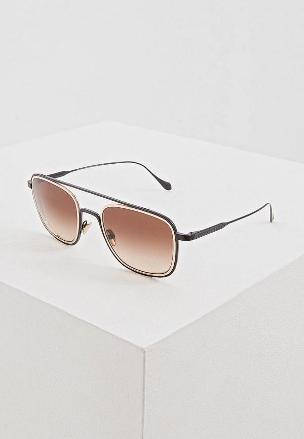 мужские квадратные солнцезащитные очки giorgio armani, золотые