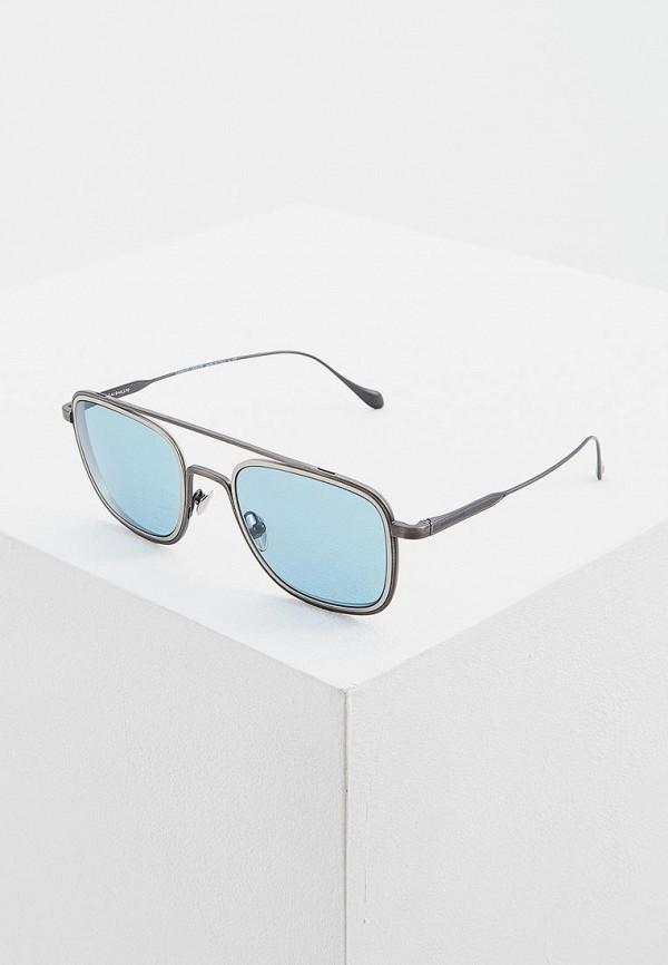 мужские солнцезащитные очки giorgio armani, серебряные