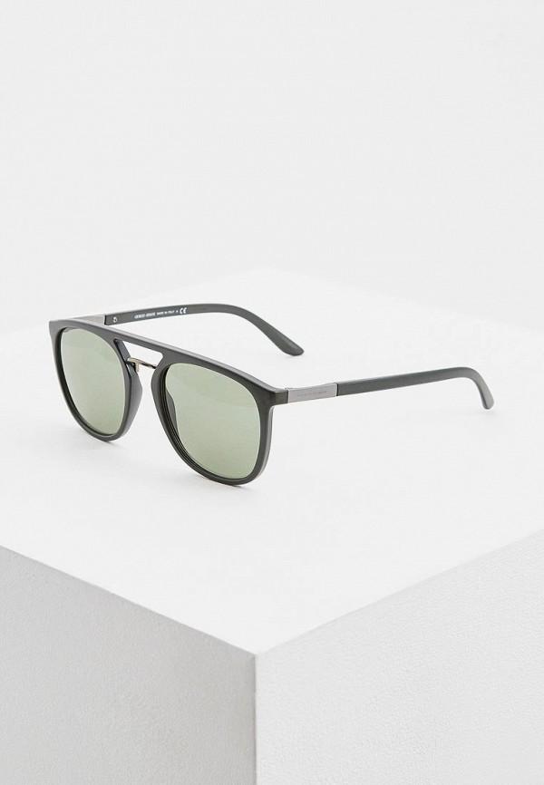 мужские солнцезащитные очки giorgio armani, зеленые