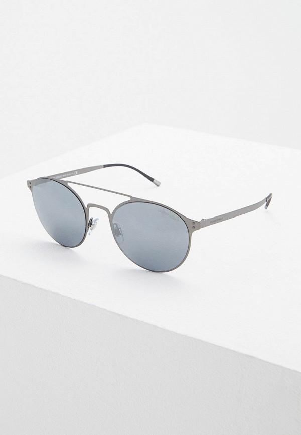 мужские солнцезащитные очки giorgio armani, серые