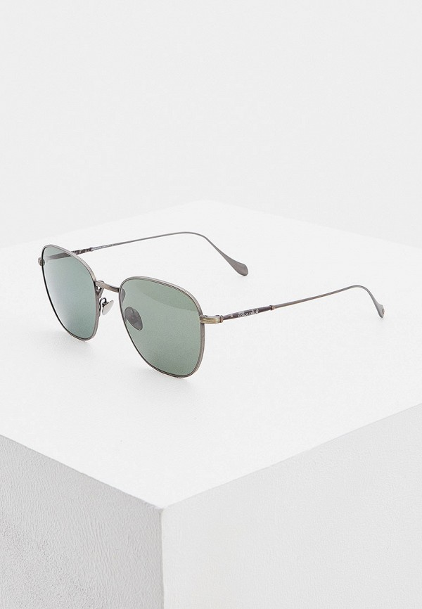 мужские круглые солнцезащитные очки giorgio armani, серебряные