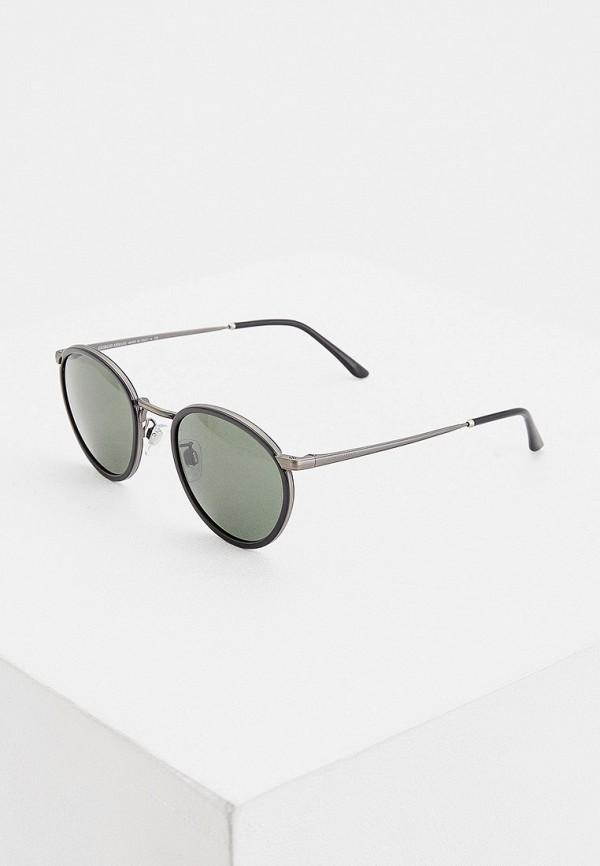 мужские круглые солнцезащитные очки giorgio armani, черные