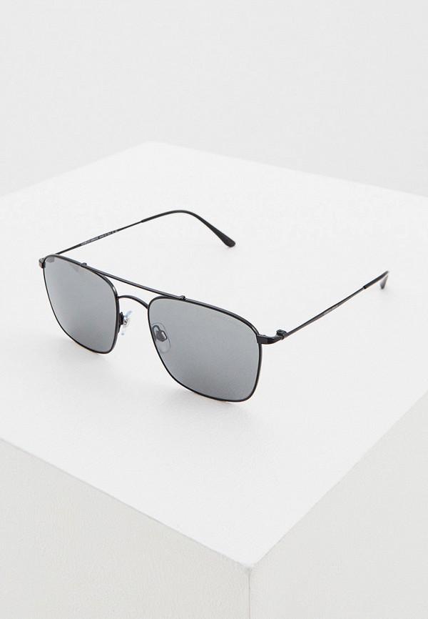 мужские квадратные солнцезащитные очки giorgio armani, черные