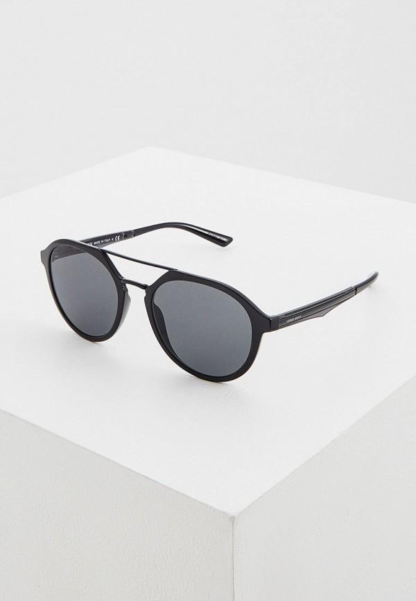 мужские авиаторы солнцезащитные очки giorgio armani, черные