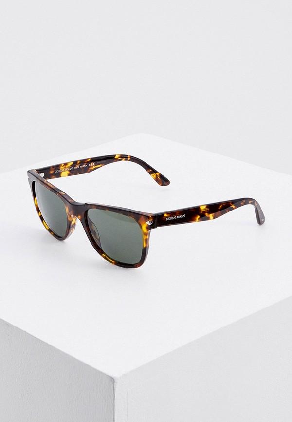 мужские солнцезащитные очки giorgio armani, коричневые