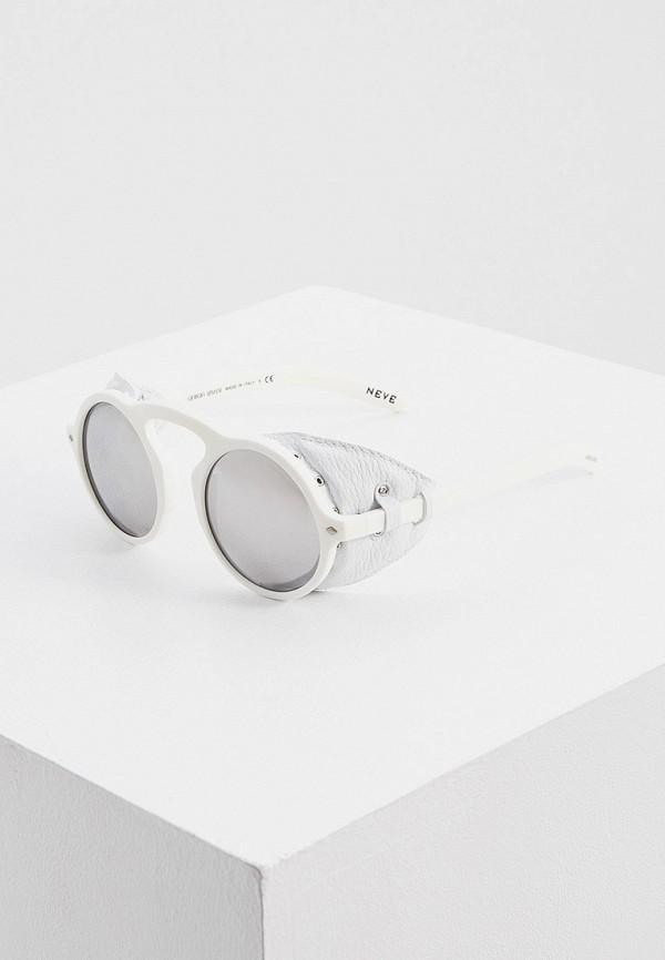 мужские круглые солнцезащитные очки giorgio armani, белые