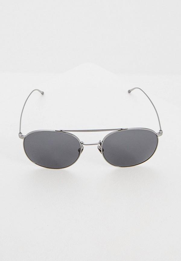 Фото 2 - Очки солнцезащитные Giorgio Armani серебрянного цвета
