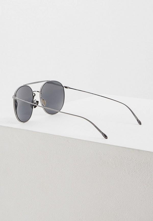 Фото 3 - Очки солнцезащитные Giorgio Armani серебрянного цвета