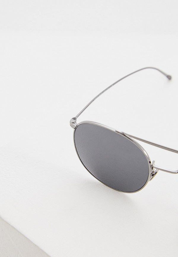 Фото 4 - Очки солнцезащитные Giorgio Armani серебрянного цвета