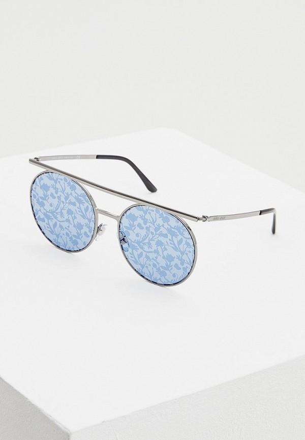 женские круглые солнцезащитные очки giorgio armani, серебряные