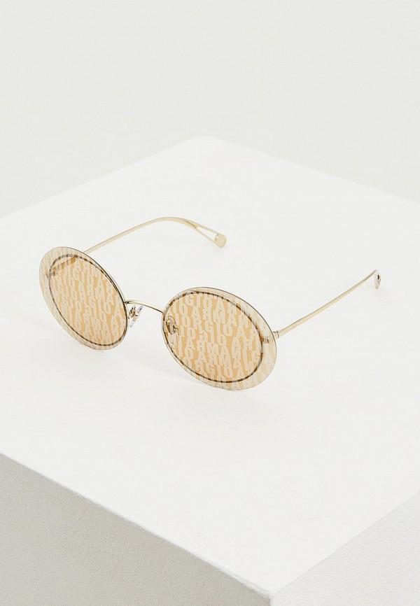 женские круглые солнцезащитные очки giorgio armani, золотые