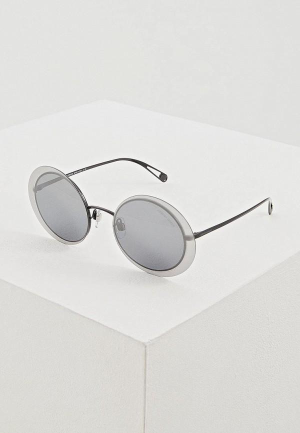 женские круглые солнцезащитные очки giorgio armani, черные