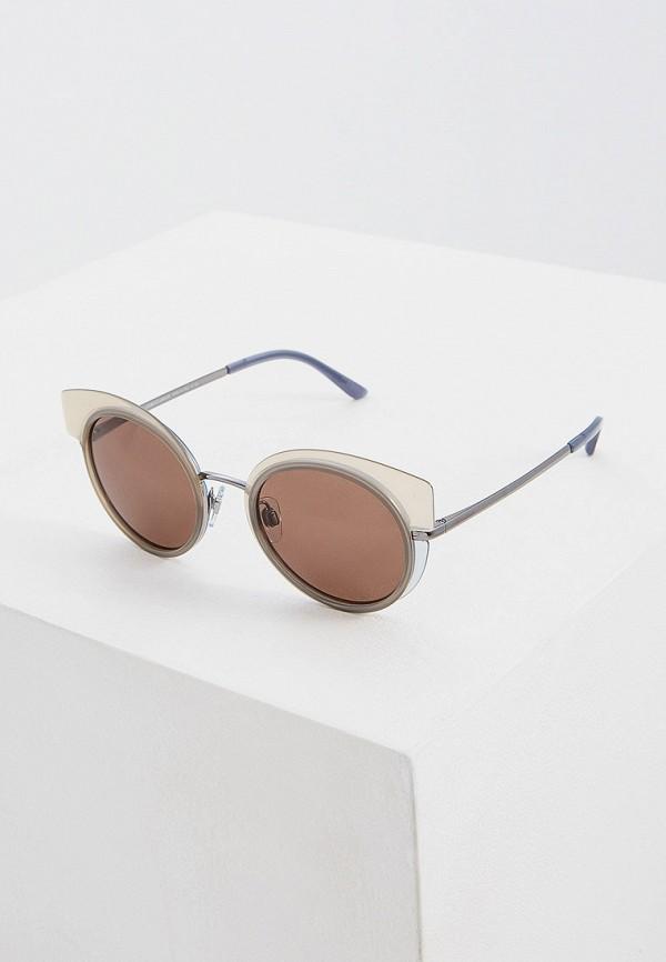 женские солнцезащитные очки кошачьи глаза giorgio armani, коричневые