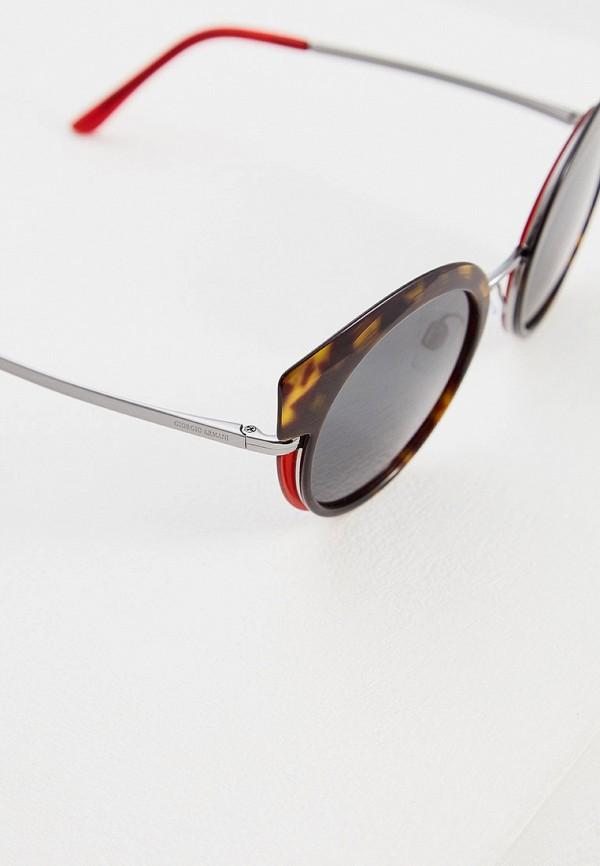 Фото 4 - Очки солнцезащитные Giorgio Armani коричневого цвета