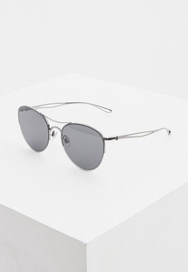 женские авиаторы солнцезащитные очки giorgio armani, серебряные
