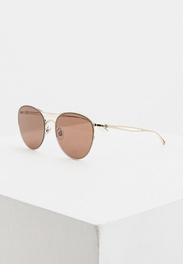 женские солнцезащитные очки giorgio armani, коричневые