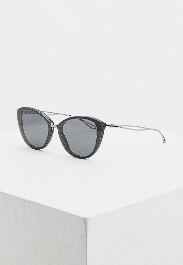 женские солнцезащитные очки кошачьи глаза giorgio armani, черные