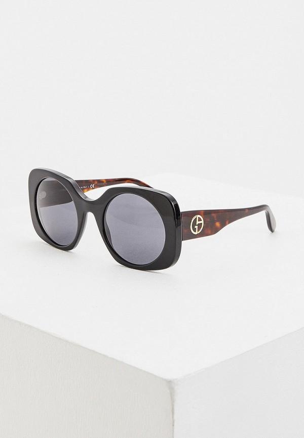 женские солнцезащитные очки giorgio armani, черные
