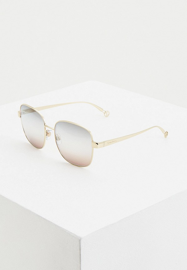 женские авиаторы солнцезащитные очки giorgio armani, золотые