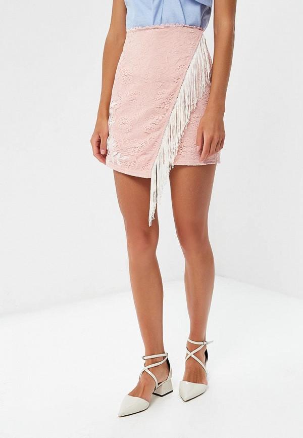 женская зауженные юбка glamorous, розовая