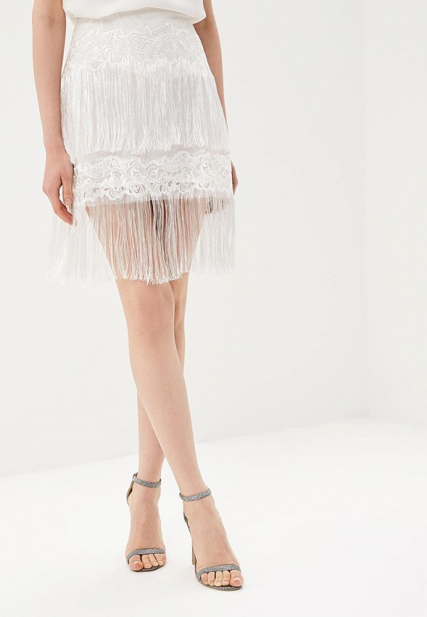 женская прямые юбка glamorous, белая
