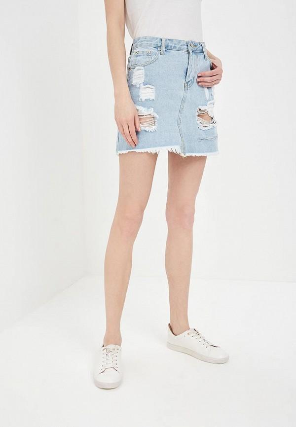 Фото - Юбка джинсовая Glamorous Glamorous GL008EWADBB1 pieces джинсовая юбка