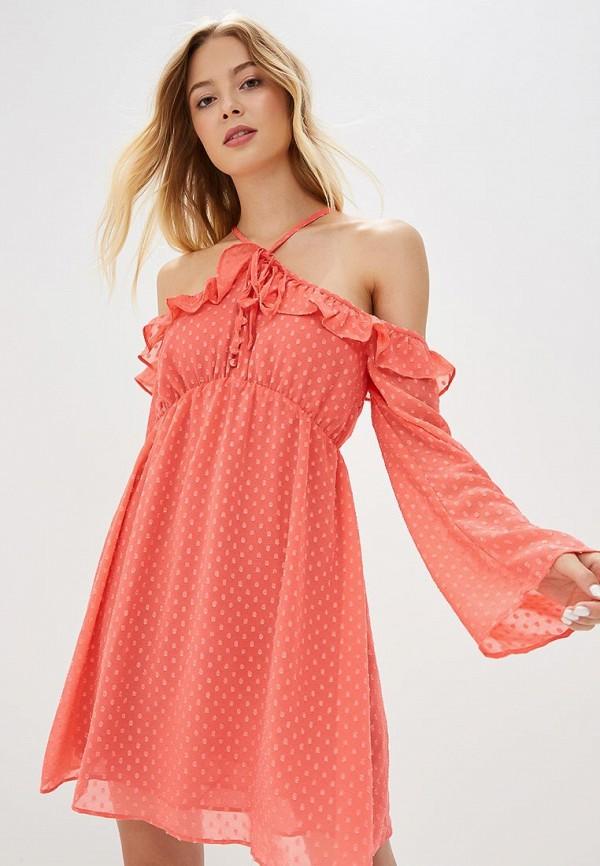 Купить Платье Glamorous, gl008ewcbot6, коралловый, Осень-зима 2018/2019