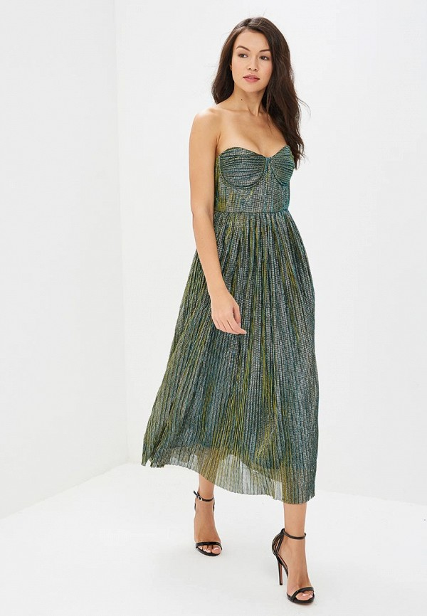 женское вечерние платье glamorous, зеленое