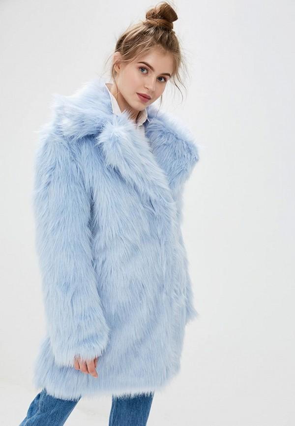 женская шуба glamorous, голубая