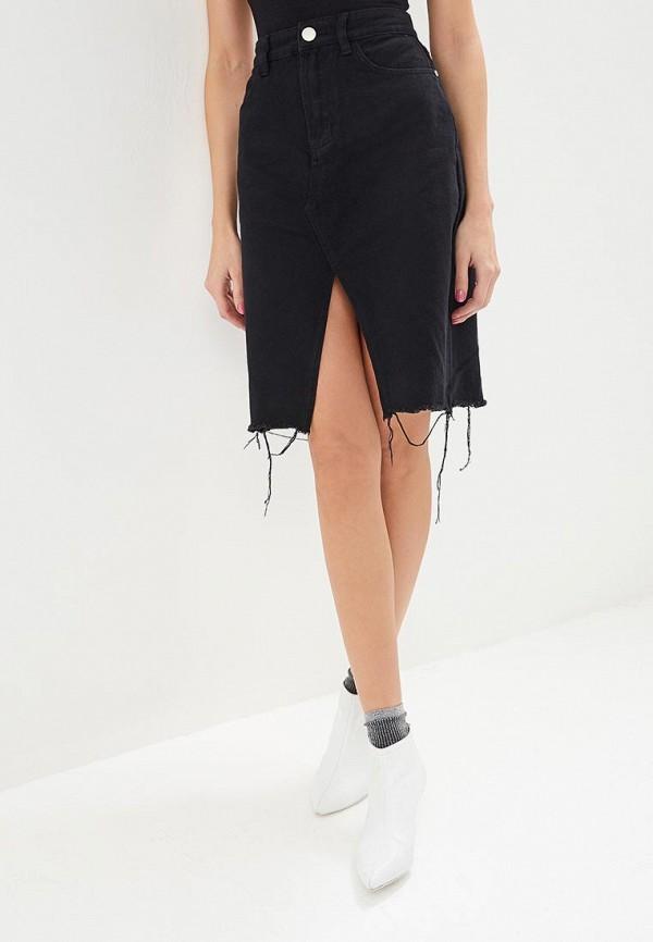 женская джинсовые юбка glamorous, черная