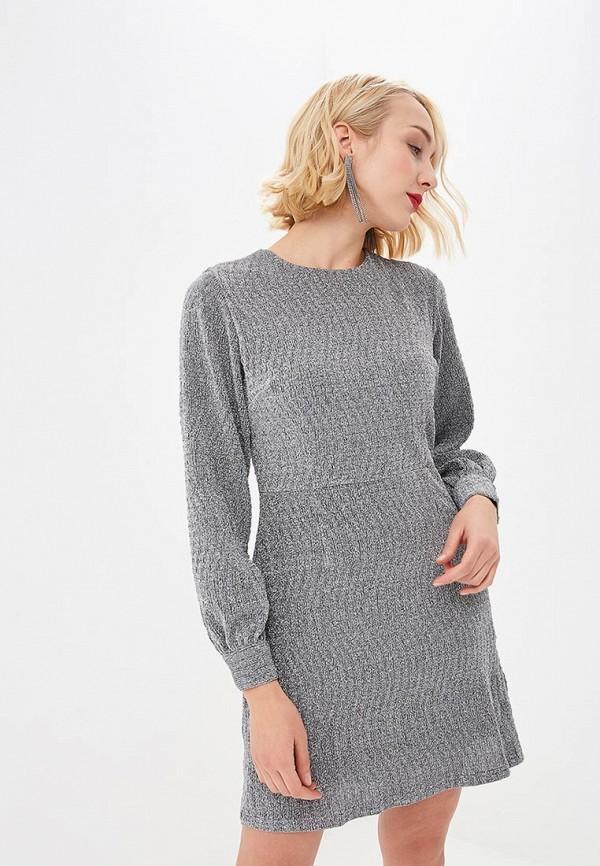 женское вечерние платье glamorous, серебряное