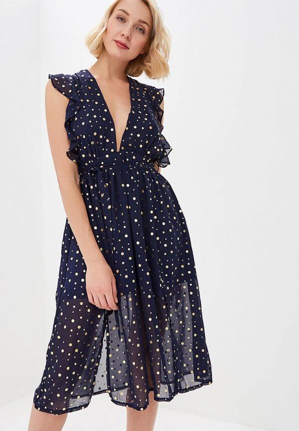 женское вечерние платье glamorous, синее