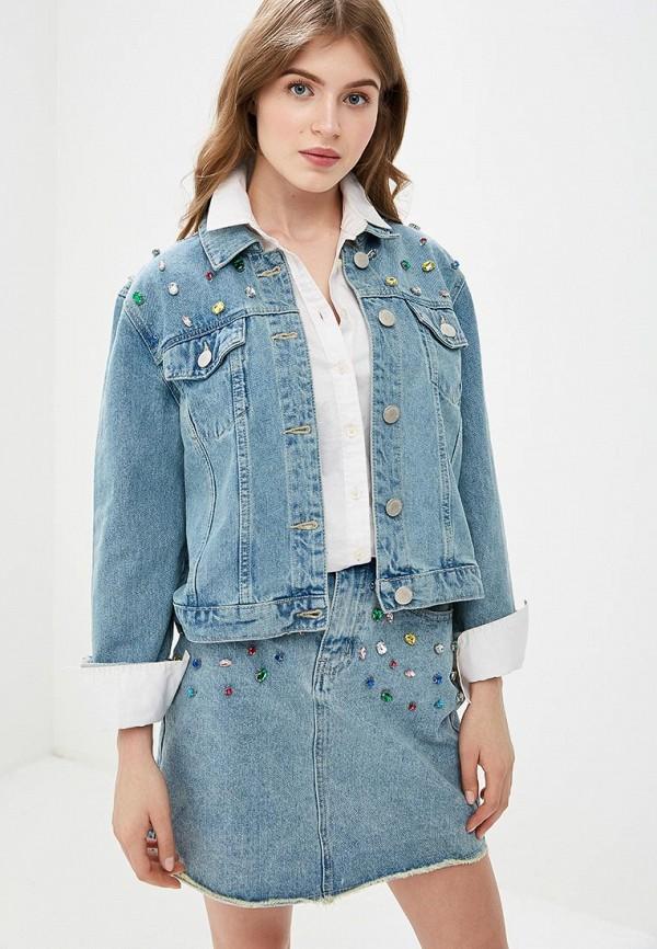 женская джинсовые куртка glamorous, голубая
