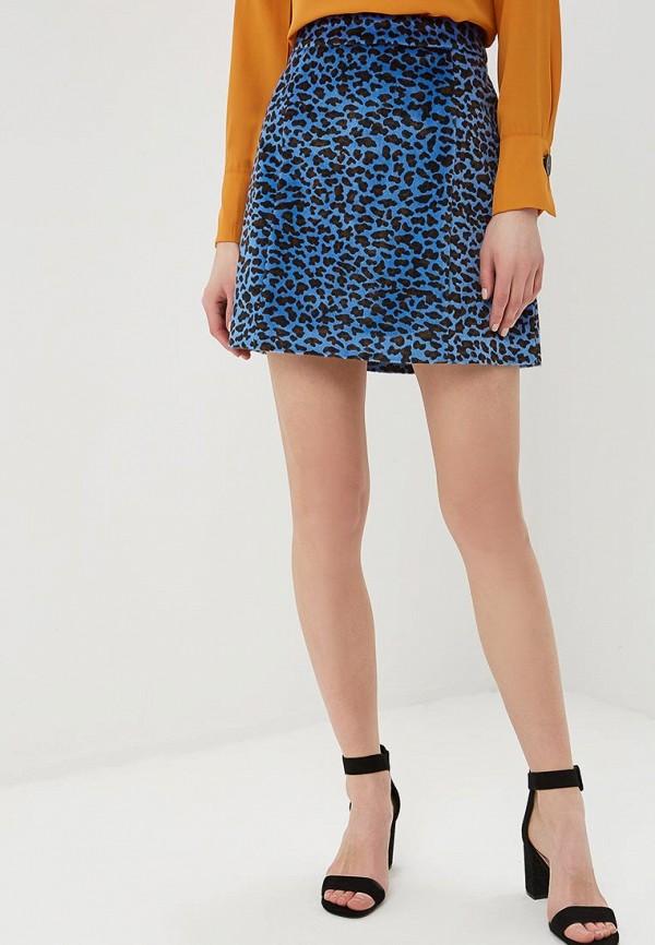 женская прямые юбка glamorous, синяя