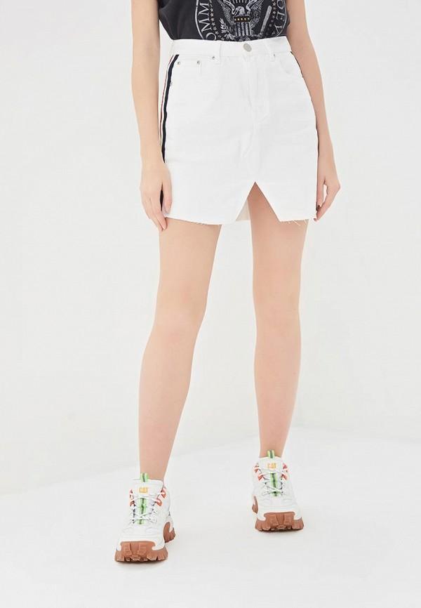 женская джинсовые юбка glamorous, белая